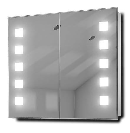Excel Demister Fluorescent Bathroom Cabinet With Demister, Sensor & Shaver k81