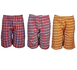 Spictex Boys' Cotton Shorts (Pack Of 3) (SPIC-CT142-PC3-05_Multicolor_2 Years - 3 Years)