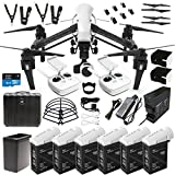 DJI-Inspire-1-V20-Dual-Remote-Drone-Quad-Copter-DREAM-COMBO-includes-DJI-Charging-Hub-6X-TB47-Batteries-Battery-Heater-Surmik-Propeller-Guards-Lens-Hood-W-4K-camera-gimbal-carrying-case