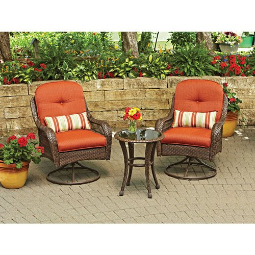 3-Piece Outdoor Furniture Set, Better Homes and Gardens Azalea Ridge 3-Piece Outdoor Bistro Set, Seats 2 image
