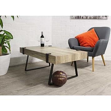 Tavolino in legno bordeaux–Fineer tavolo alto e gambe in metallo nero