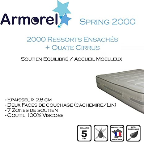 Armorel mas2090/200Spring 2000Matratze weiß