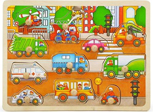 TOPBRIGHT Transportation Peg Puzzle