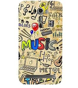 ABSTRACT MUSICAL PATTERN 3D Hard Polycarbonate Designer Back Case Cover for Asus Zenfone 2 Laser ZE601KL :: Asus Zenfone 2 Laser ZE601KL (6 Inches)