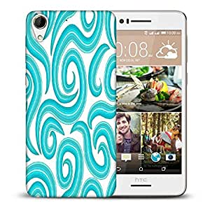 Snoogg Blue Pattern Printed Protective Phone Back Case Cover For HTC Desire 728