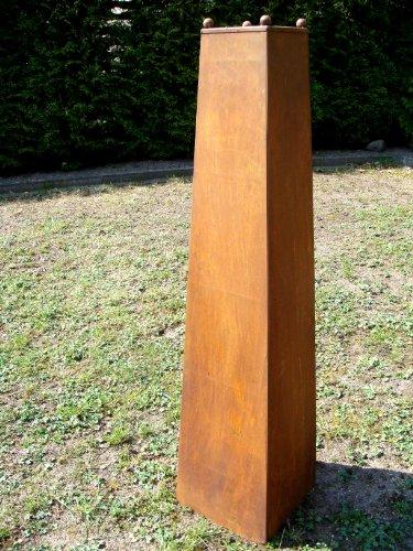 S ule edelrost aus metall 120cm deko gartendeko for Gartenskulpturen metall rost