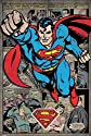 "Superman - DC Comics Poster (Retro Style Comic Montage) (Size: 24"" x 36"")"