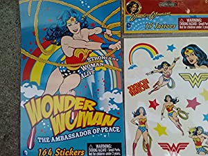 Wonder Woman the Ambassador of Peace 164 Stickers Booklet & 15 Temporary Tattoos