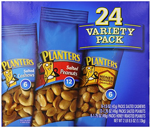 Planters Nut 24 Count-Variety Pack, 2 Lb 8.5 Ounce (Nut Packs compare prices)