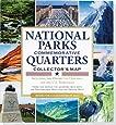 National Parks Commemorative Quarters Collector's Map 2010-2021 (includes both mints!)