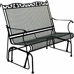 Wrought Iron 2 Seat Glider Sporting Goods Patio Lawn Garden