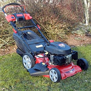"""FOX 20"""" 4 Blade, Self Propelled 4 in 1, 5.5HP, Electric Start Petrol Lawn Mower - New Electric Start Model For 2014"""