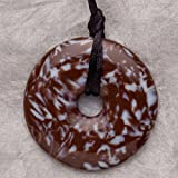 Teething Bling Pendant - Donut Shape (Brown Snowflake)
