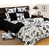 Swayam Shades Of Paradise Printed Cotton Double Comforter - Black And White (ACS 01-5313 )