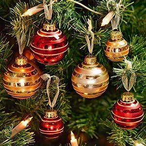 weihnachtskugeln rot gold champagner 4 5 6 cm 50 st. Black Bedroom Furniture Sets. Home Design Ideas