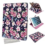 LOVE MY CASE / Stylish Purple & Pink Floral Butterfly Case, Cover For Apple iPad Air 2 with LMC Cloth