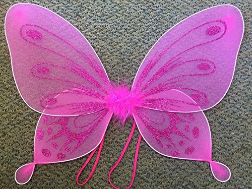 Fuchsia Sparkling Fairy Princess Wings - 1
