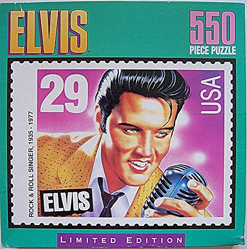 Elvis Commemorative Postage Stamp 550 Pc Jigsaw Puzzle