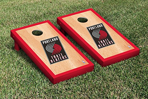 Portland Blazers Trailblazers Cornhole Tailgate Toss, 24x48, Wood, Portable, Version 4 sp0010 cute piggy face style pudding bread cake baking mould pink