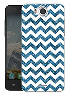 "Humor Gang Chevron Glitter Pattern - Blue Printed Designer Mobile Back Cover For ""Google Infocus M530"" (3D, Matte Finish, Premium Quality, Protective Snap On Slim Hard Phone Case, Multi Color)"