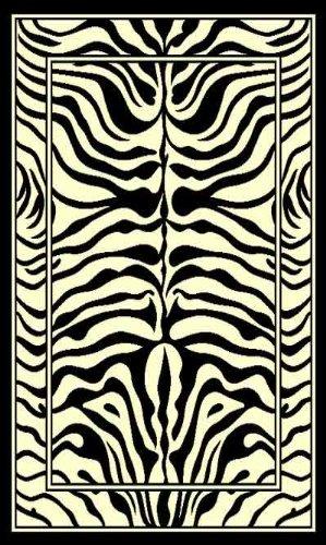 Home Dynamix Zone 7160-450 Ebony 3-Feet 7-Inch by 5-Feet 2-Inch Zebra Area Rug