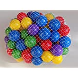 """My Balls By CMS Brand Pack of 100 Pcs 2.5"""" Phthalate Free BPA Free Crush Proof Plastic Balls in 5 Bright Colors"""