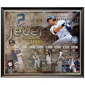 MLB New York Yankees Derek Jeter 3,000th Hit Time Line Framed 20x24 Collage by Steiner Sports