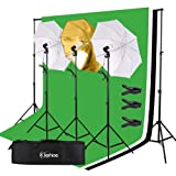 45W Light Bulbs Photography Umbrella Studio Photo Continuous Lighting Stand Kit