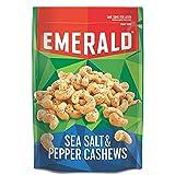 Emerald Sea Salt and Pepper Cashews, Stand Up Resealable Bag, 5.5 Ounce (Pack of 6) (Tamaño: 5.5oz)