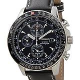 [セイコー]SEIKO SSC009P3 ソーラー フライトマスター パイロット アラーム クロノグラフ ブラック メンズ 腕時計 [並行輸入品]