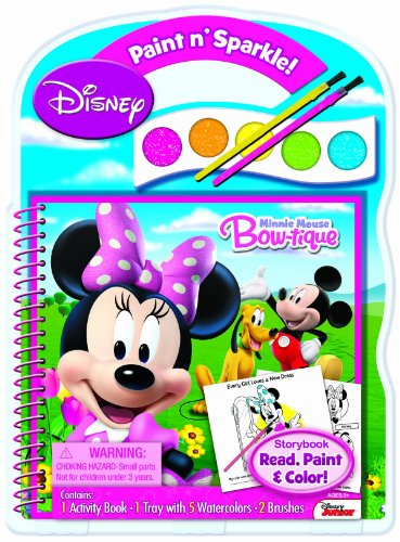 Bendon Disney Minnie Mouse Paint and Sparkle Activity Book