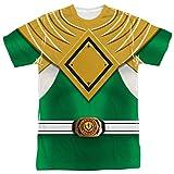 Power Rangers - Green Ranger T-Shirt Size XL (Color: White, Tamaño: X-Large)