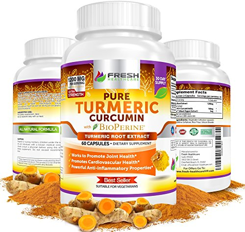 TURMERIC-Curcumin-BioPerine-with-95-Curcuminoids--Extremely-Potent-Anti-Inflammatory-Anti-Oxidant-Benefits-for-Pain-Relief-Health--Vegetarian-Turmeric-Powder-Capsules-by-Fresh-Healthcare