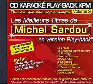 """CD KARAOKE PLAY-BACK KPM VOL.02 """"Michel Sardou"""""""