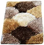 Presto Bazaar Polyester 3D Doormat - Brown, 24 x 16 Inches, Geometrical