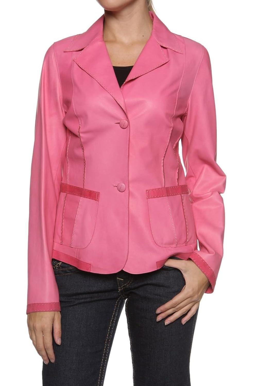 Cristiano di Thiene Sartoria Privata Damen Jacke Lederjacke LE, Farbe: Pink