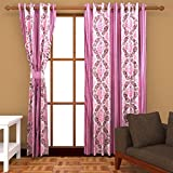 Ab home decor Polyester Door Curtains (Set of 2)-9 Feet x 4 Feet,Pink