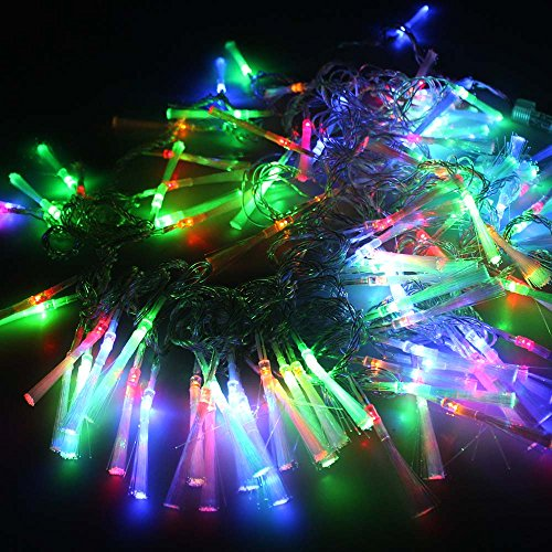 Agptek Linkable Design 10M 100Leds 3 Colors Christmas Party Festival Decoration Fairy Fiber Optic String Lights Connected By One Controller 8 Different Models Making Your Festival Day Gorgeous! (Rgb Multi Color)