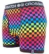 Crosshatch 'Prisbix' Mens Cube Pattern Boxer Short Sapphire L