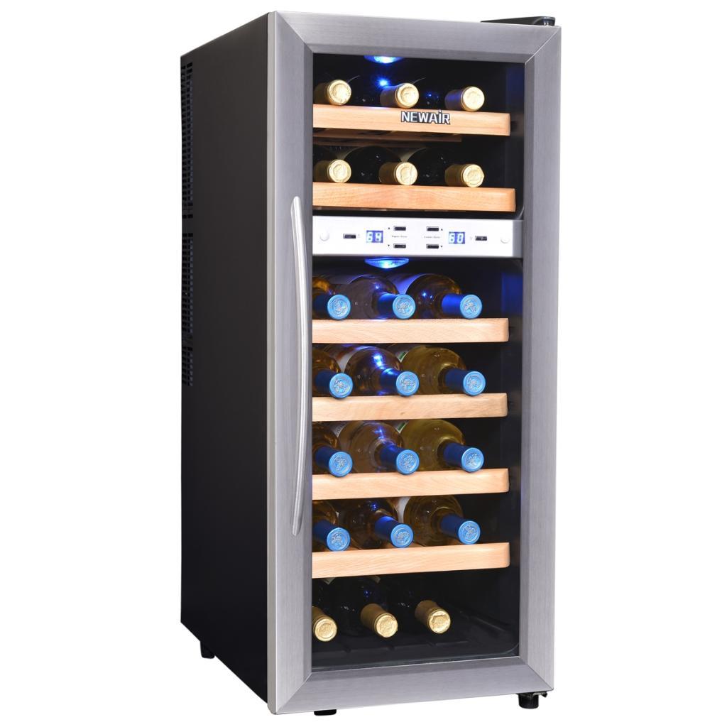 Amazon Com Newair Aw 211ed Streamline 21 Bottle Dual Zone