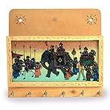 Jaipur Raga Gemstone Painted Keys Letter Holder Handicraft Gemstone Painting