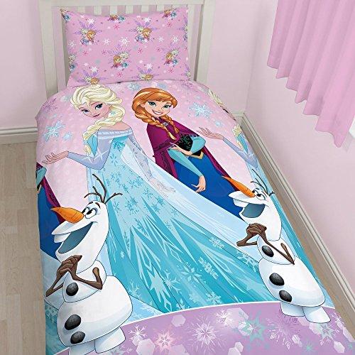 Character World Disney Frozen Magic - Juego de ropa de cama individual, multicolor