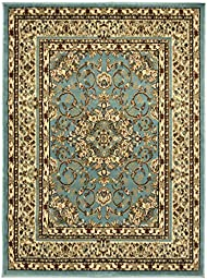 Sweethome King Collection Isfahan Blue Teal Oriental Medallion Design (7\'10\
