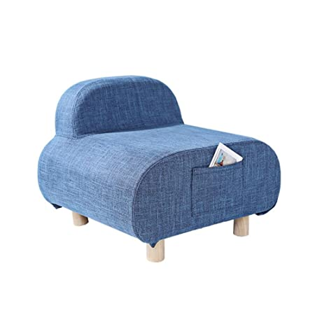 XXFFH® Mini Sofa Eine Person, Stoff Single Sofa Konfigurationskissen , blue