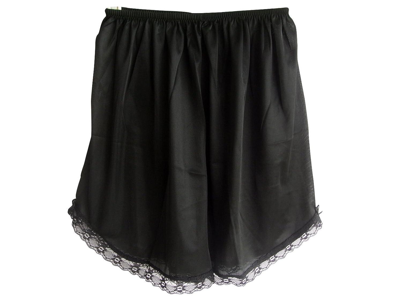Damen Nylon Halb Slips Neu UPPNABK BLACK Half Slips Women Pettipants Lace günstig