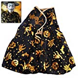 Pixnor@ Golden Pumpkin & Witch Design Cape for Costume Balls /Parties /Halloween