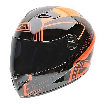 NZI 050261G609 Must NNF Casque de Moto, Noir/Orange, Taille : S