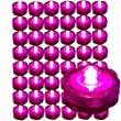 BlueDot Trading Submersible Tea Lights, Pink, 48-Pack