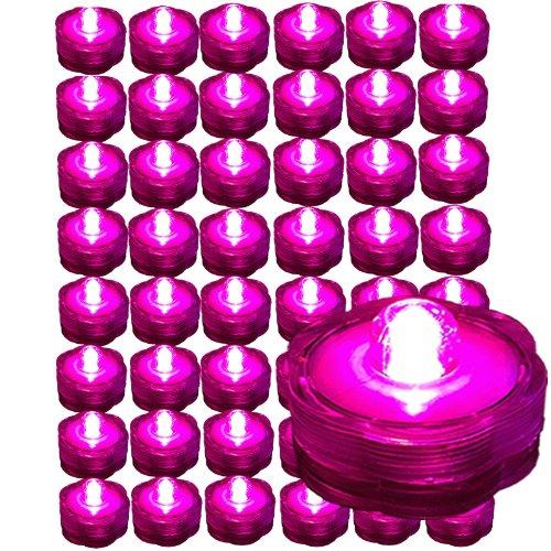 Bluedot Trading Submersible Tea Lights, Pink, 48-Pack