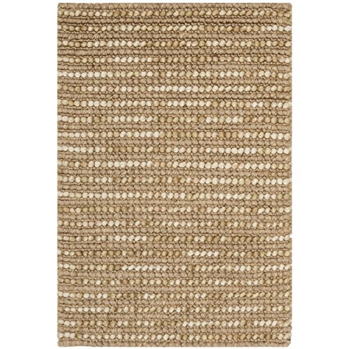 Safavieh Bohemian Collection BOH525F Hand-knotted Beige and Multi Hemp and Jute Area Rug, 2 feet by 3 feet (2' x 3')